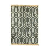 Ya Rugs Kenar bézs-kék szőnyeg, 120 x 180 cm