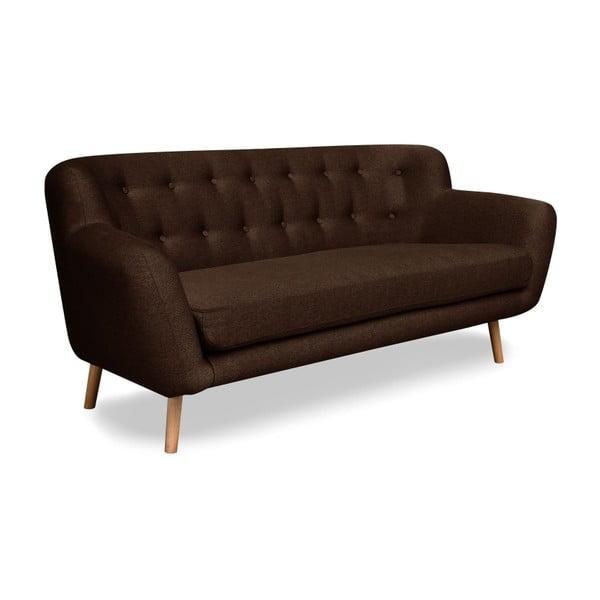 London barna háromszemélyes kanapé - Cosmopolitan design