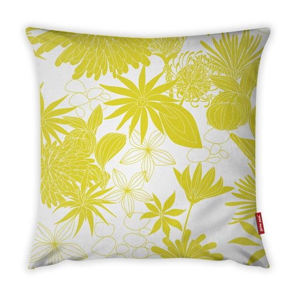Jungle Verde sárga-fehér párnahuzat, 43 x 43 cm - Vitaus
