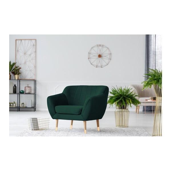Benito sötétzöld fotel - Mazzini Sofas