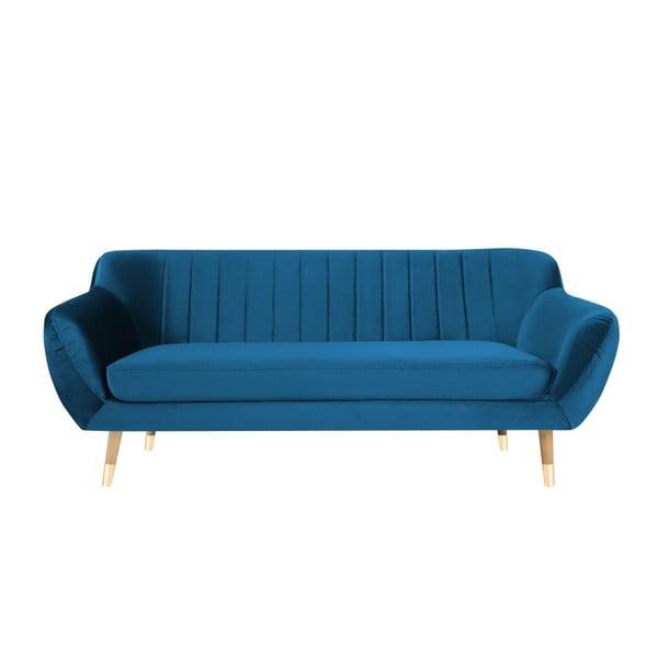 Benito kék 3 személyes kanapé - Mazzini Sofas