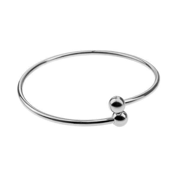 Solid női ezüstszínű rozsdamentes acél karkötő - Emily Westwood