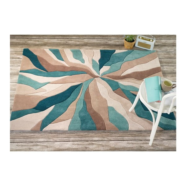 Splinter Teal szőnyeg, 160 x 220 cm - Flair Rugs