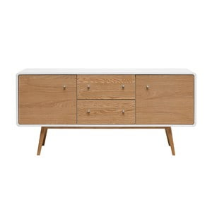 Turin alacsony fehér tölgy komód - Unique Furniture