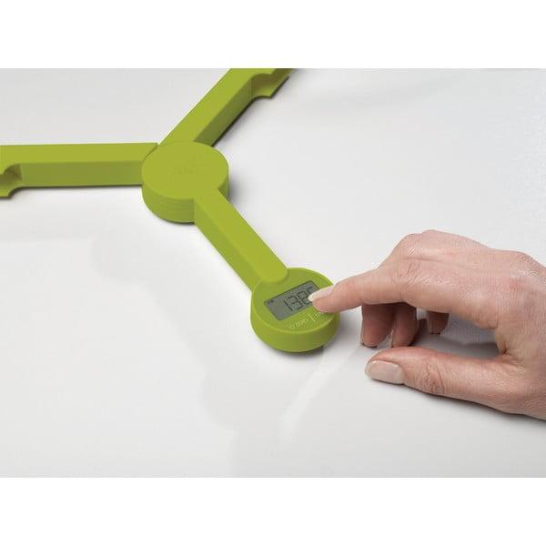 TriScale zöld összecsukható digitális konyhai mérleg - Joseph Joseph
