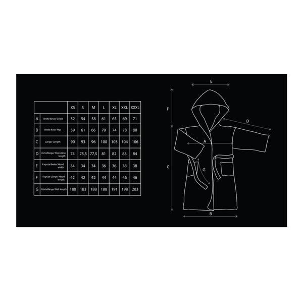 Sleepyhead krémszínű, mikroszálas, uniszex fürdőköntös, méret S - DecoKing
