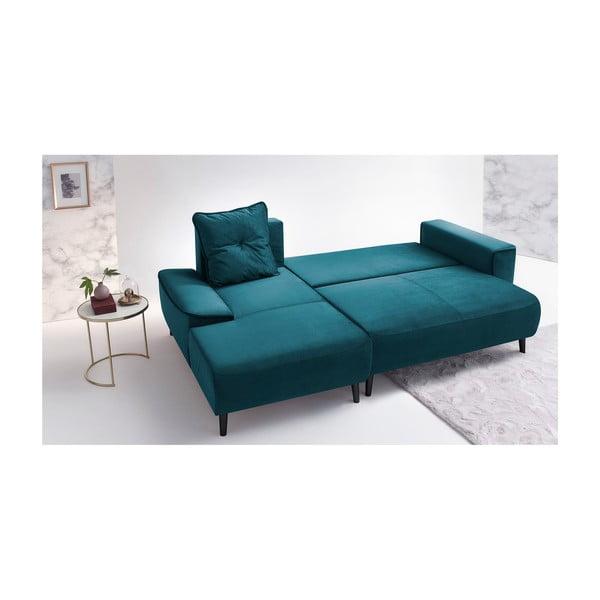 Hera Bis türkiz kinyitható kanapé, bal oldali - Bobochic Paris