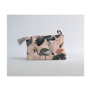 Flores y Gruas pamutkeverék kozmetikai táska - Madre Selva