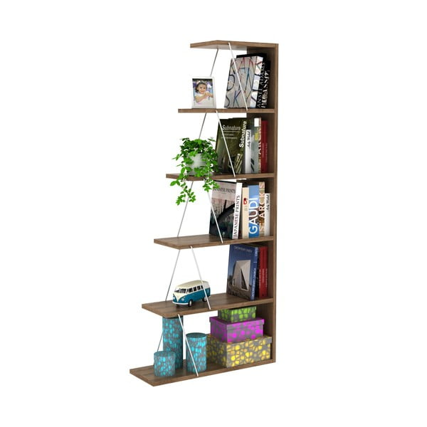 Rafevi Tars Mini diófa könyvespolc