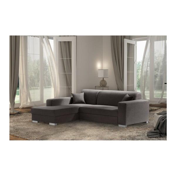 Bijou barna kanapé, bal oldal - Interieur De Famille Paris