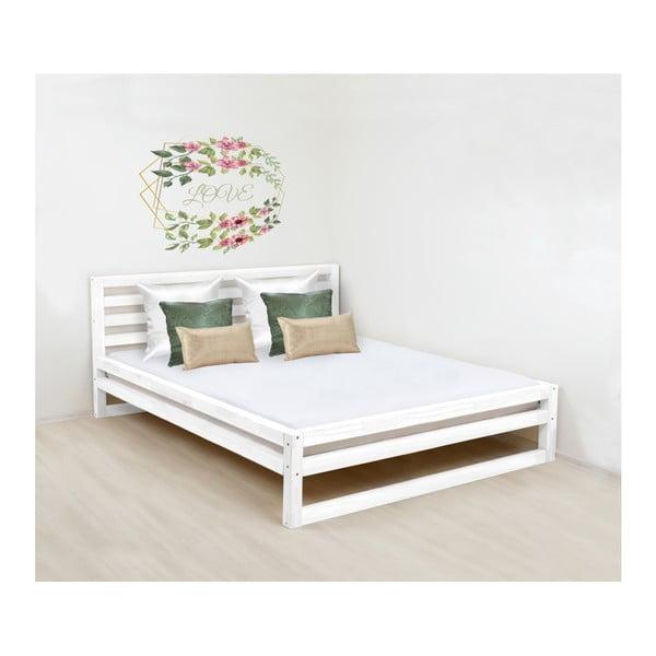 DeLuxe fehér fa franciaágy, 200 x 200 cm - Benlemi