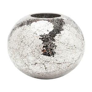Mosaix Disco ezüstszínű váza, 21 cm - Kare Design