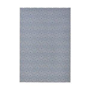 Modrý koberec vhodný do exteriéru Bougari Karo, 200x290cm