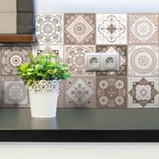 Ezeiza dekoratív matrica szett, 15 darab, 15 x 15 cm - Ambiance