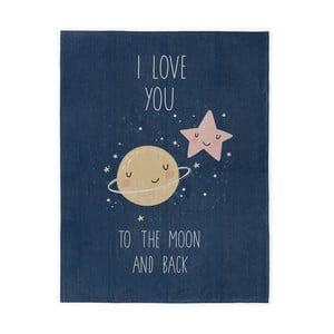 Love To The Moon kézzel készített gyermekszőnyeg, 120 x 160 cm - Naf Naf