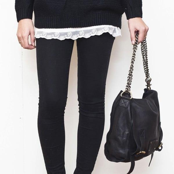 Sleazy Jane fekete vintage bőrtáska - O My Bag