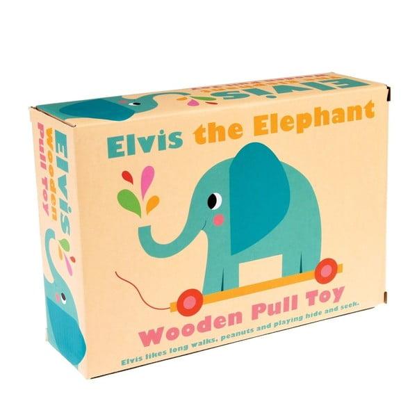 Elvis The Elephant fa gyerekjáték, hosszúság 18 cm - Rex London
