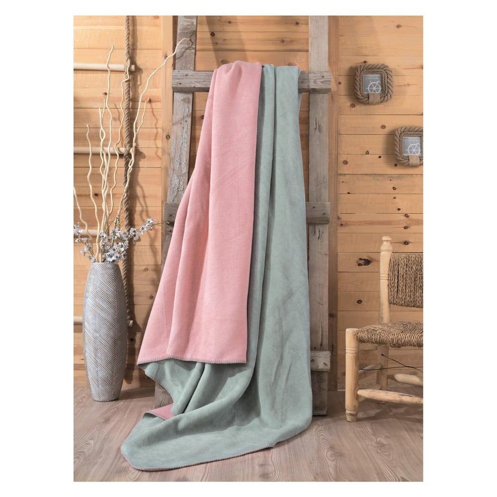 Cole zöld-rózsaszín takaró 0ab9b67d53