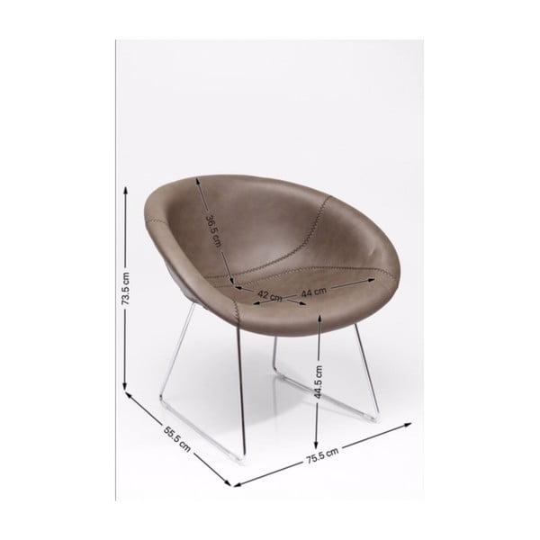 Lounge szürke fotel - Kare Design
