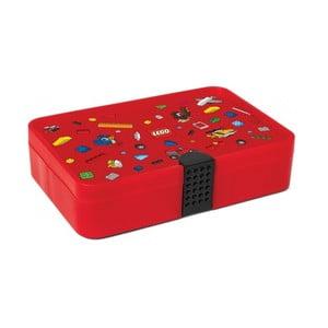 Iconic piros tárolódoboz rekesszel - LEGO®