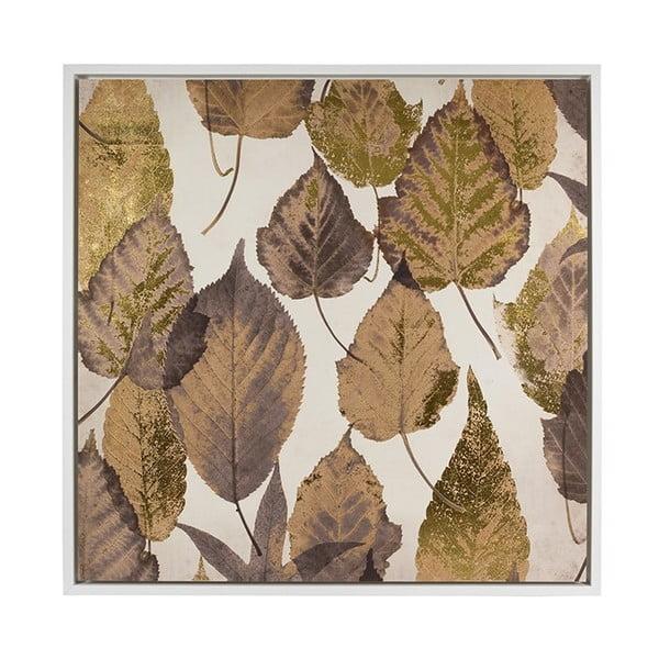 Brown Leaves falikép, 104 x 104 cm - Santiago Pons