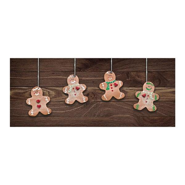 Natale Gingerbreads fokozottan ellenálló futószőnyeg, 60 x 150 cm - Webtappeti