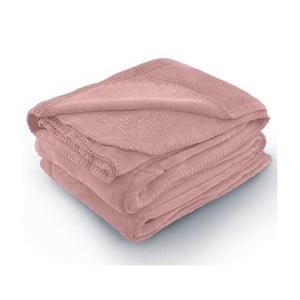 Růžová deka z mikrovlákna AmeliaHome Tyler, 70 x 150 cm
