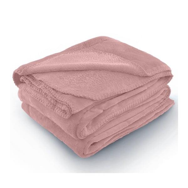 Tyler rózsaszín mikroszálas takaró, 70 x 150 cm - AmeliaHome