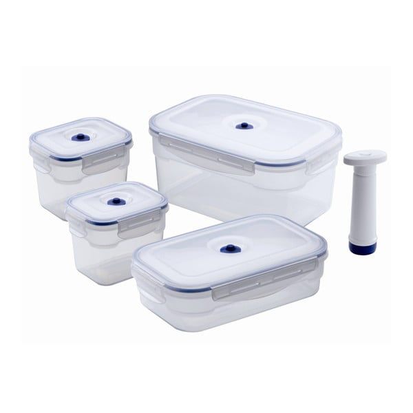Food Saver élelmiszerdoboz szett vákuumpumpával, 4 darab - Compactor