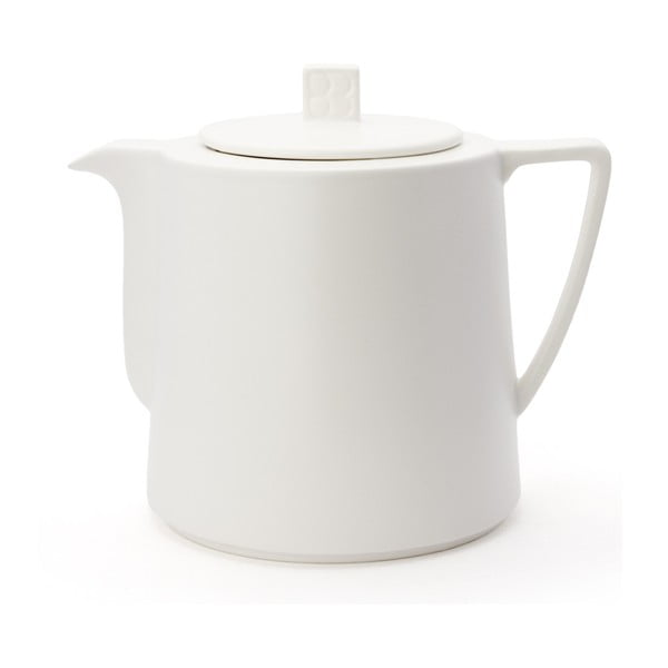 Lund fehér kerámia teáskanna szűrővel szálas teához, 1,5 l - Bredemeijer