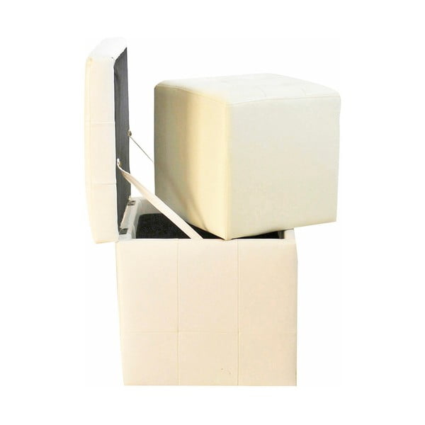 Nina 2 db-os fehér puff készlet - Evergreen House