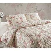 Care krémszín kétszemélyes steppelt ágytakaró párnahuzattal, 200 x 220 cm