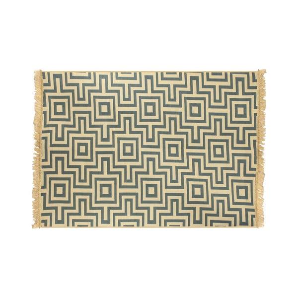 Kare kék szőnyeg, 60 x 90cm - Ya Rugs