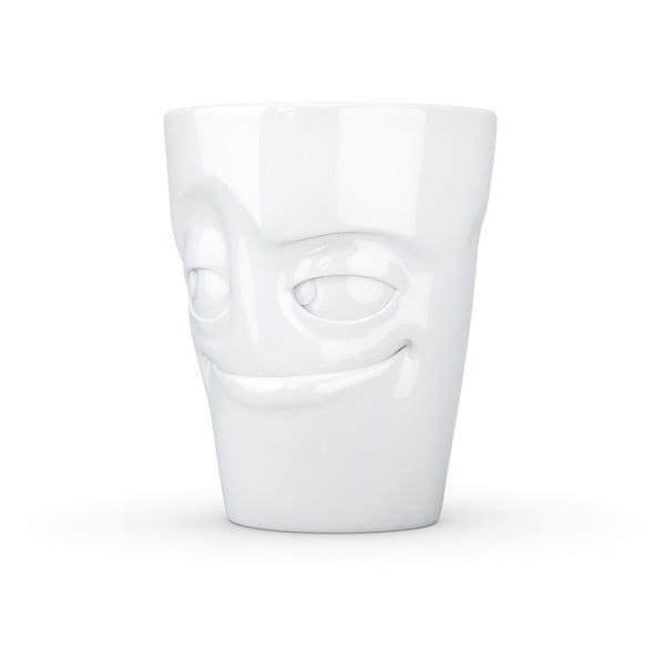 Fehér 'mosolygós' porcelánbögre - 58products