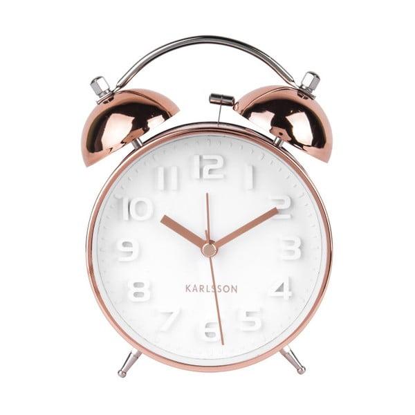 Wake Up rézszínű fém ébresztőóra - Karlsson