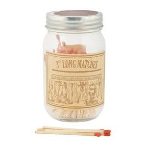 Long Matches gyufák befőttesüvegben - Esschert Design