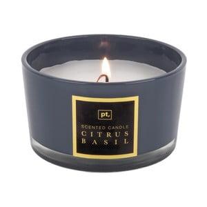 Scented Candle gyertya citrus és bazsalikom illattal, égési idő 27 óra - PT LIVING
