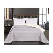 Salise szürke-fehér kétoldalas mikroszálas ágytakaró, 260 x 280 cm - DecoKing