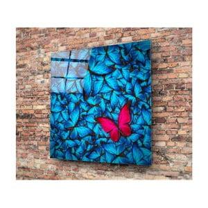 Azul Butterfly üvegezett kép, 30x30cm - Insigne