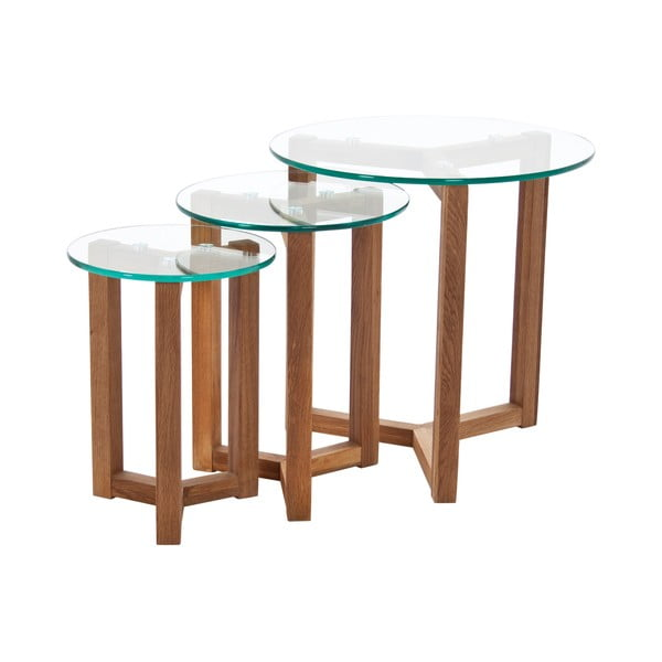 Osaka dohányzóasztal tölgyfa lábszerkezettel - Actona