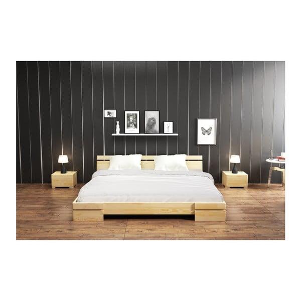 Sparta kétszemélyes ágy borovi fenyőből, 160 x 200 cm - Skandica