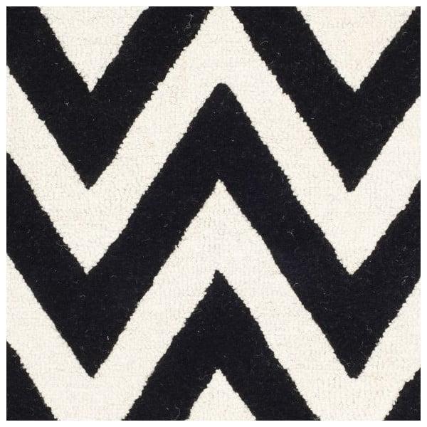 Stella fekete gyapjú szőnyeg, 152 x 243 cm - Safavieh