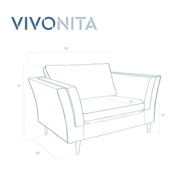 Connor türkizkék fotel - Vivonita
