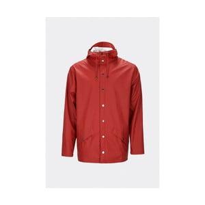 Červená unisex bunda s vysokou voděodolností Rains Jacket, velikost L/XL