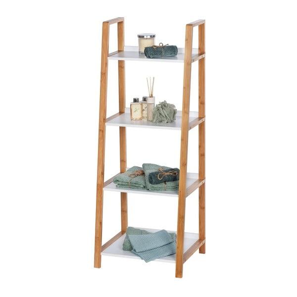 Finja fürdőszobai bambusz tároló, 4 polccal - Wenko
