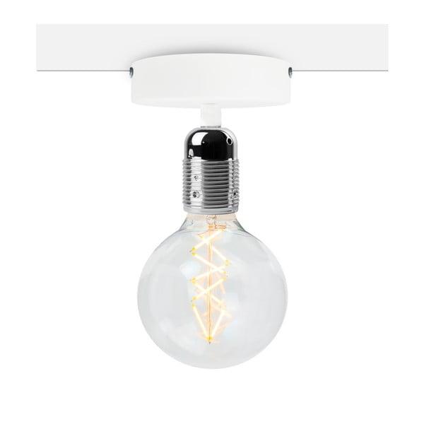 Uno Basic fehér mennyezeti lámpa, ezüstszínű foglalattal - Bulb Attack