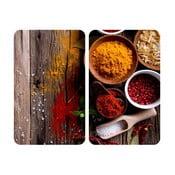 Spices tűzhelyvédő üveglap, 2 db - Wenko