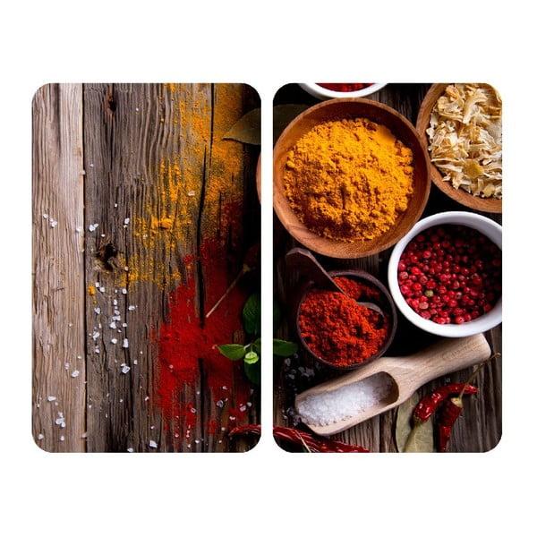 Spices 2 db tűzhelyvédő üveglap, 52x30cm - Wenko