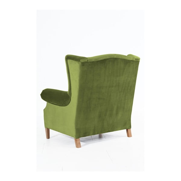 Harvey Velvet olíva zöld füles fotel - Max Winzer