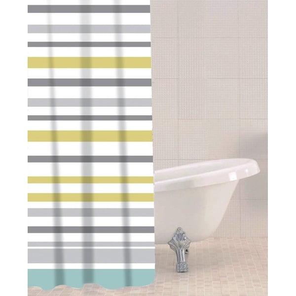 Sea Stripe zuhanyfüggöny, 180 x 180 cm - Sabichi